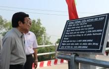 Huyện Đức Hòa đưa thêm 3 công trình cầu giao thông nông thôn vào sử dụng