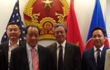 Đại sứ Việt Nam tại Hoa Kỳ Phạm Quang Vinh tiếp đoàn Tổng hội NN&PTNTVN cùng các Doanh nhân