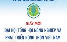 Thư mời tham dự Đại hội Tổng hội nông nghiệp và PTNT Việt Nam lần thứ 2