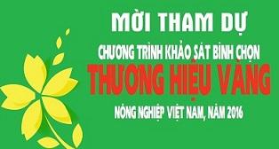 """Thương hiệu Vàng Nông nghiệp Việt Nam"""" lần thứ 3"""